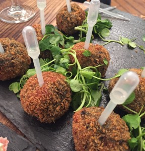 Squid ink risotto balls from Cafe Twocann