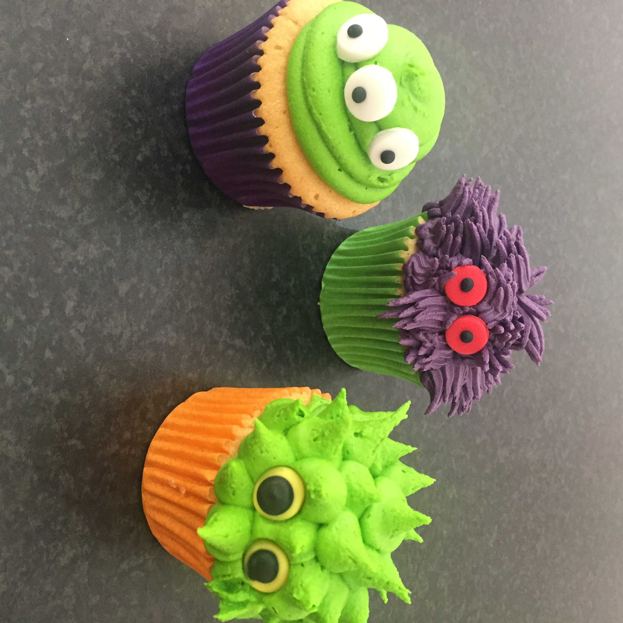 Hallowe'en Monster Cupcakes