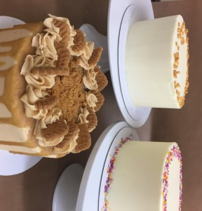 Layer cakes available to order (gluten free lemon, vanilla, biscoff)