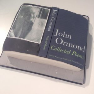 Cake for launch of John Ormond's Collected Poems at Galerie Simpson