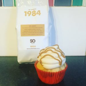 Caramel Machiatto Cupcakes made with SO Coffee 1984 Blend