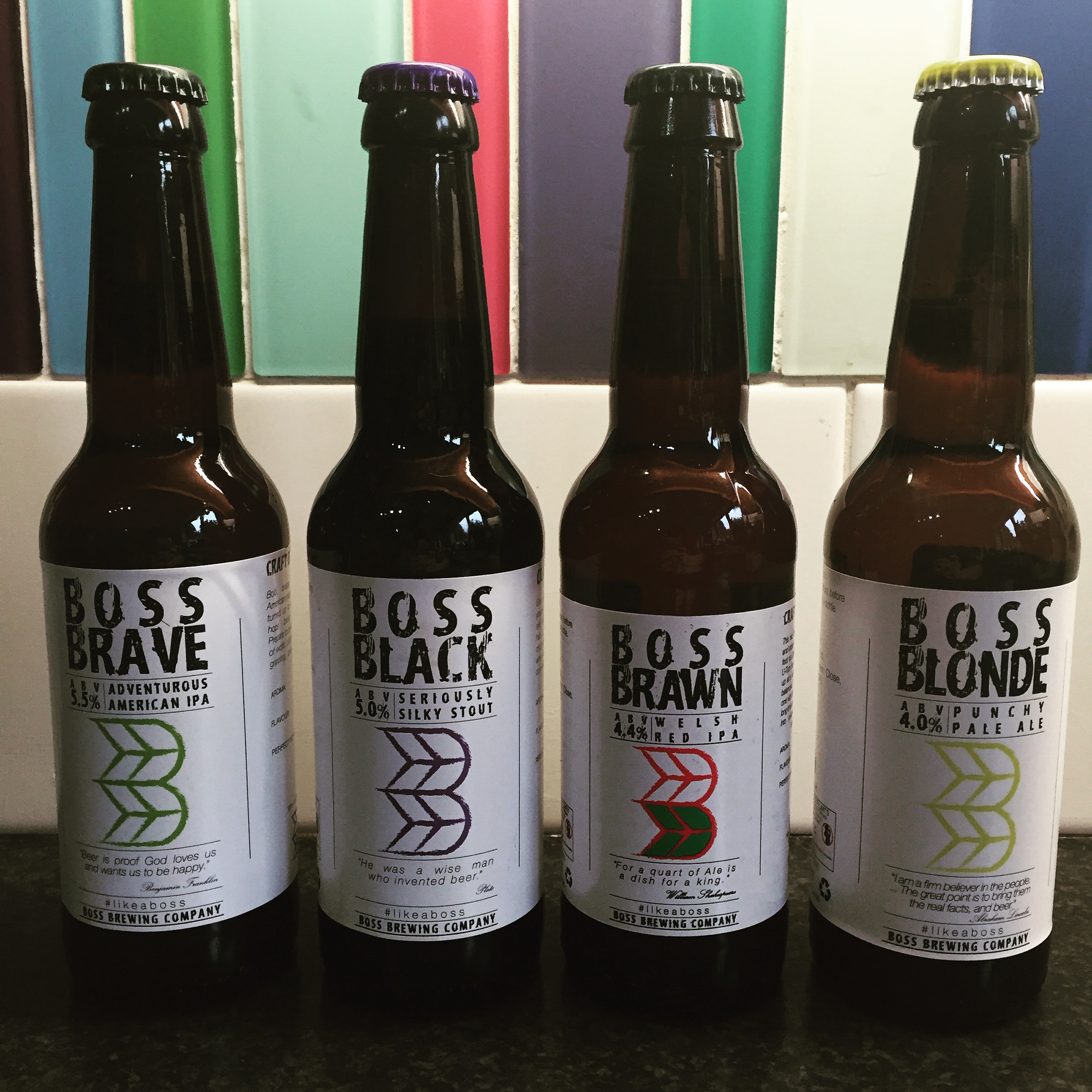 Beers from Boss Brewing
